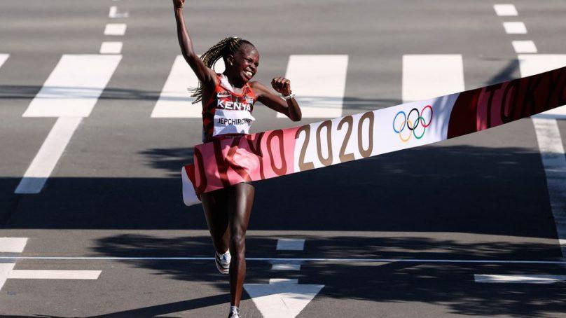 Kenya's Jepchirchir destroys a strong field of women marathoners to bag gold in Tokyo