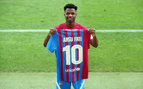 'Messi pressure' on young Ansu Fati shoulders as Barcelona hands him magical No10 jersey