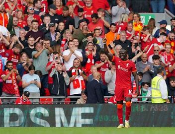 Evergreen Senegalese star Sadio Mane scores his Liverpool century against Crystal Palace at Ainfield